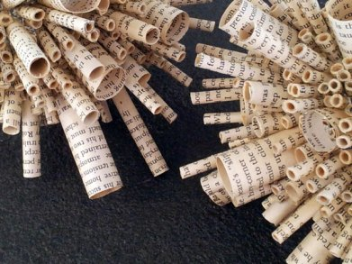 Jo Howe book sculpture Arrrghhh!-detail