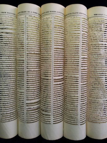 Wisdom - detail Jo Howe Book sculpture Book arts paper