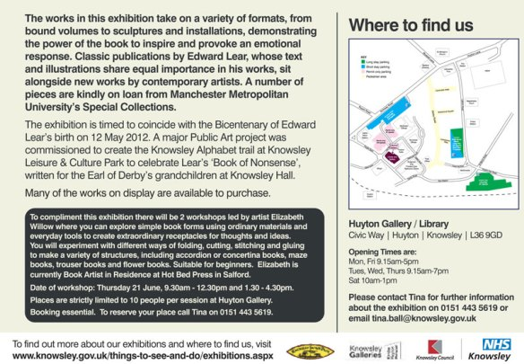 For the Love of Books exhibition featuring Jo Howe
