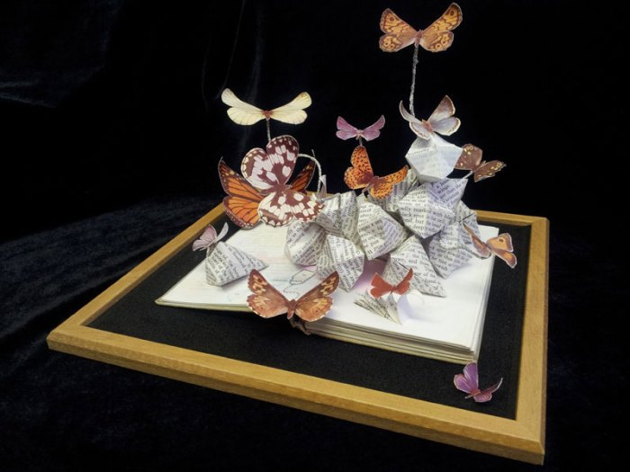 Butterfly Illustrated 2012 - Jo Howe Book Sculpture