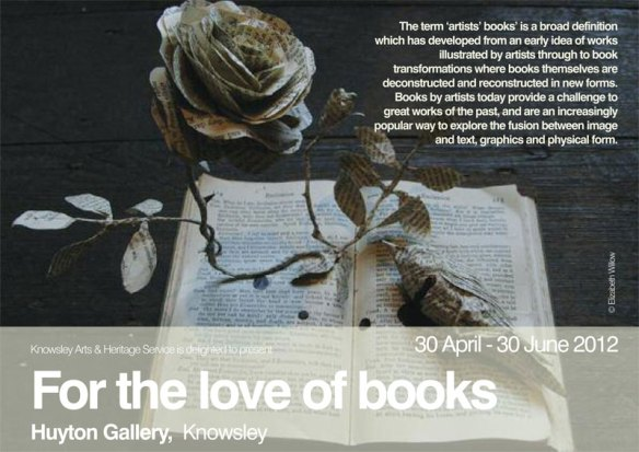 For-the-love-of-books Exhibition featuring Jo Howe