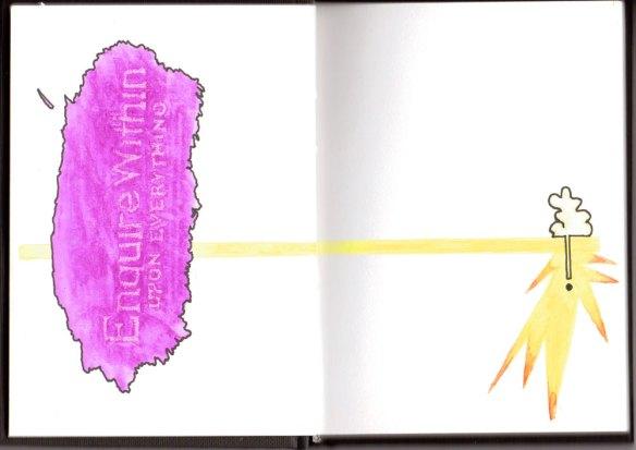 sketchbook01 doodling away the glue, Jo Howe, the process of being an Artist
