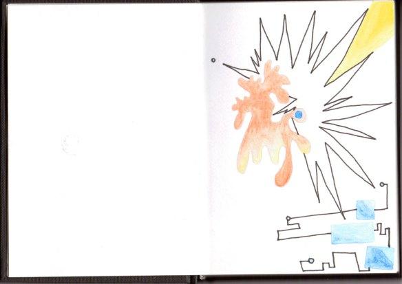 sketchbook02 doodling away the glue, Jo Howe, the process of being an Artist