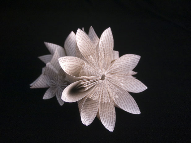 Kusudama-Flow Jo Howe Book Sculpture