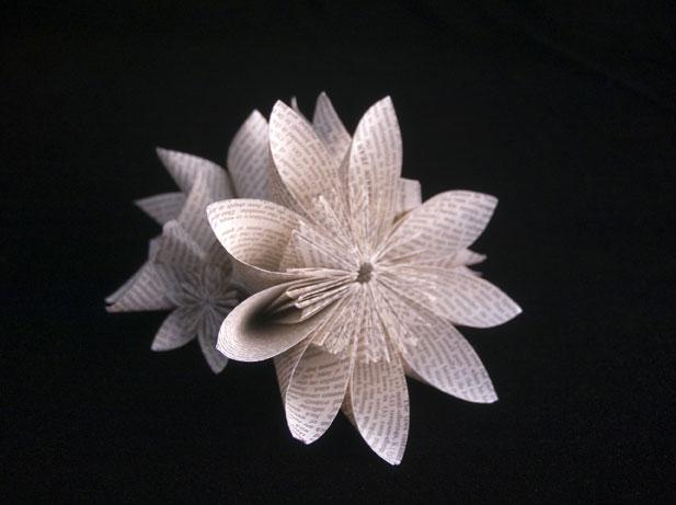 Kusudama-Flow Jo Howe Book Sculpture
