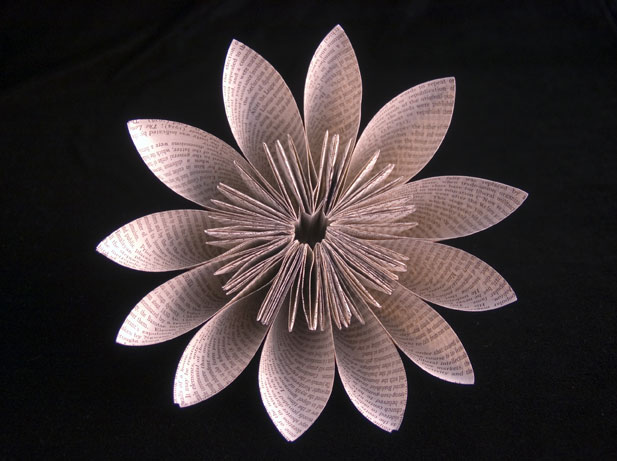 Kusudama-Flower Jo Howe Book Sculpture