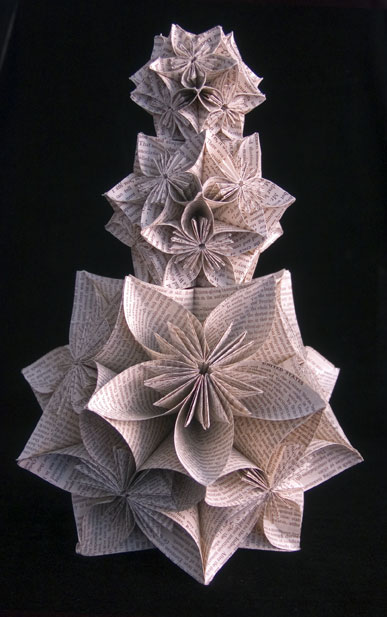 Kusudama-Tower Jo Howe Book Sculpture