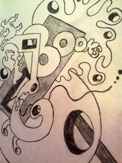 Books sketch Jo Howe