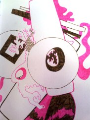 Brown / Pink sketch Jo howe